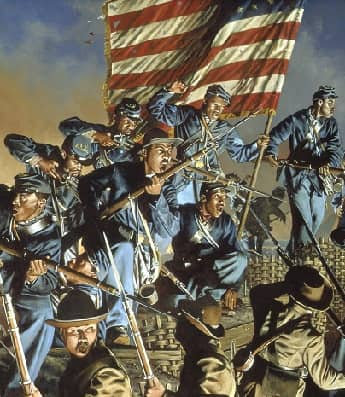An attack by the 54th Massachusetts Regiment