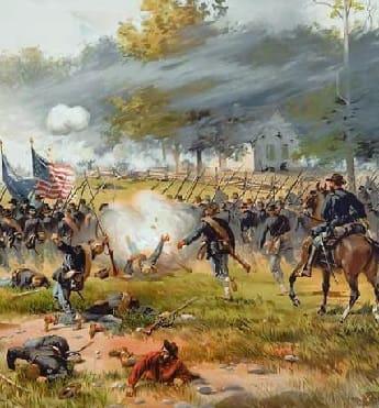 Union attack at Antietam