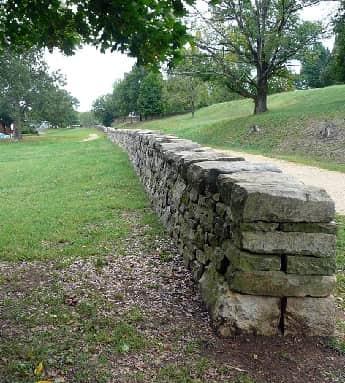 Stone wall on Fredricksburg Battlefield