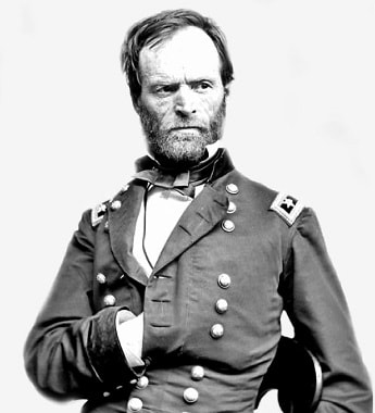 Photo of General Sherman in uniform