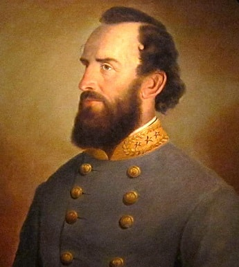 Painting of Confederate General Stonewall Jackson