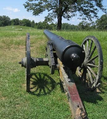 A cannon at Vicksburg Battlefield