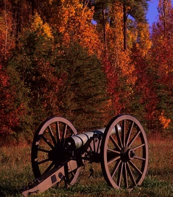 A cannon at the Wilderness Battlefield