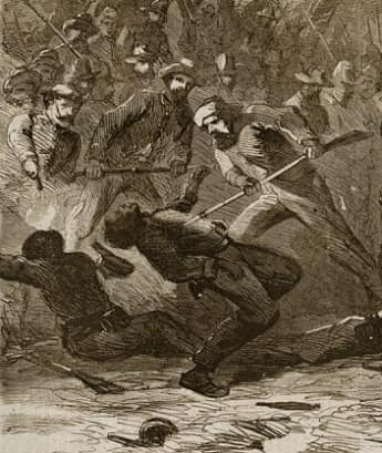 Sketch of the Fort Pillow massacre